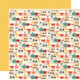 """Simple Stories - Apron Strings Lick the Bowl Double Sided 12x12"""""""