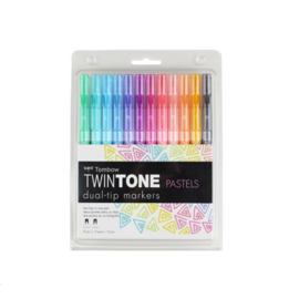 Tombow twintone dual tipmarkers - pastel