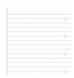 Personal White Ruled Notepaper Inserts