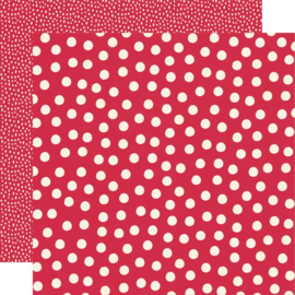 Say Cheese Main Street - Red Dots 12x12 double sided paper
