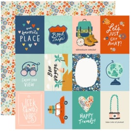 """Simple Stories - Save Travels 3x4 Elements Double Sided 12x12"""""""