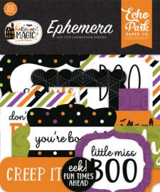 Echo Park - Halloween Magic ephemera