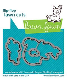 Lawn Fawn - Mermaid for You flip-flop lawn cuts