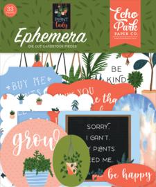 Echo Park Plant Lady ephemera