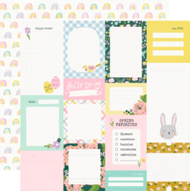 Simple Stories - Bunnies & Blooms Journal Elements Double Sided 12""