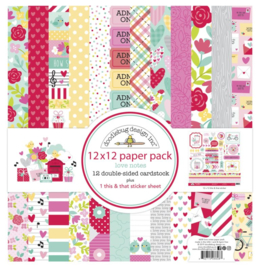 Doodlebug Love Notes 12x12 paperpack