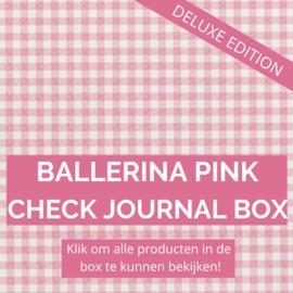 Ballerina Pink Check Deluxe journal box