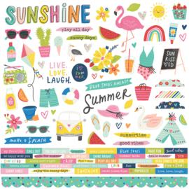 Simple Stories - Sunkissed 12x12 Stickervel