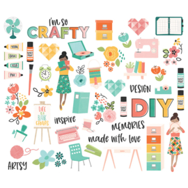 Simple Stories - Hey Crafty Girl  Bits & Pieces