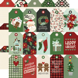 Simple Stories - Jingle All The Way Tags Double Sided 12x12""