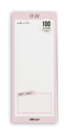 Ballerina Pink Magnetic To Do List Pad