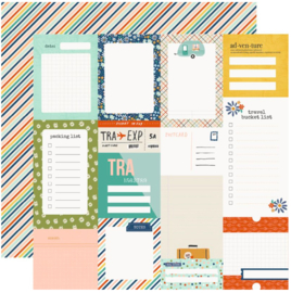"""Simple Stories - Save Travels Journal Elements Double Sided 12x12"""""""