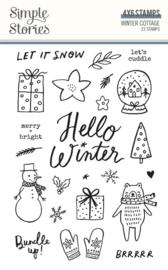 Simple Stories - Winter Cottage stempelset