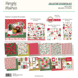 Simple Stories - Holly Days collector's essential kit