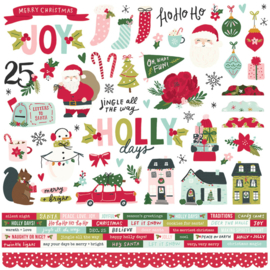 Simple Stories - Holly Days stickervel 12x12