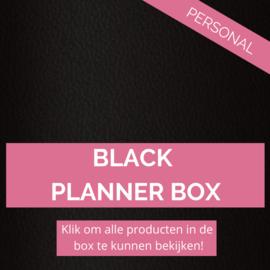 Black personal planner box