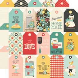 """Simple Stories - Apron Strings Tags Double Sided 12x12"""""""