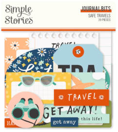 Simple Stories - Save Travels Journal Bits & Pieces