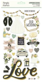 Simple Stories - Happily Ever After chipboard stickers