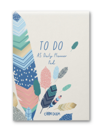 Feathers A5 Daily Planner Pad