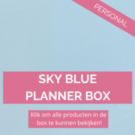 Sky Blue personal planner box