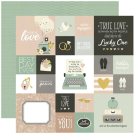 """Simple Stories - Happily Ever After 2x2/4x4 Elements Double Sided 12x12"""""""