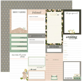 """Simple Stories - Happily Ever After Journal Elements Double Sided 12x12"""""""