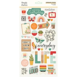 Simple Stories - Hello Today chipboard stickers