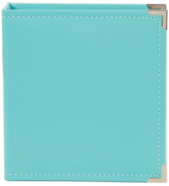 Simple Stories - 6x8 leather binder Teal