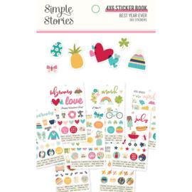 Simple Stories - Best Year Ever stickerboek