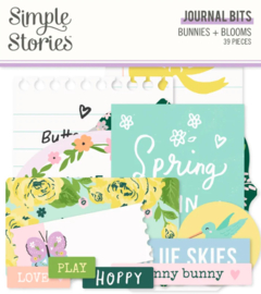 Simple Stories - Bunnies & Blooms journal bits