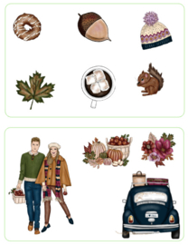 Fall Couple deco stickerset