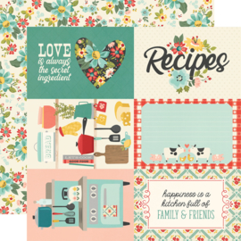 """Simple Stories - Apron Strings 4x6 Elements Double Sided 12x12"""""""