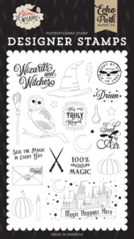 Echo Park Witches and Wizards Sent By Air stamp set