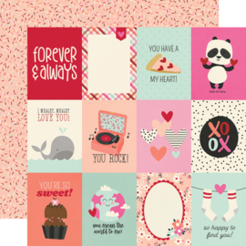 """Simple Stories - Sweet Talk 3x4 Elements double sides 12x12"""""""