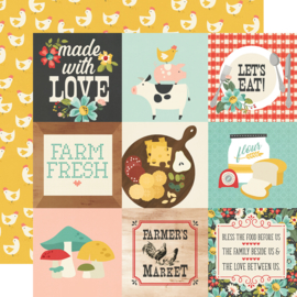 """Simple Stories - Apron Strings  4x4 Elements Double Sided 12x12"""""""