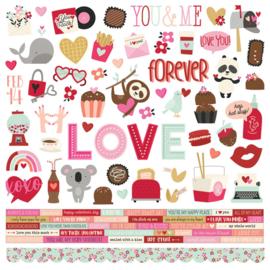 "Simple Stories - Sweet Talk stickervel 12x12"""
