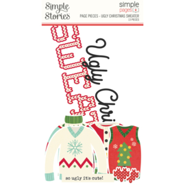 Simple Stories - Ugly Christmas Sweater page pieces