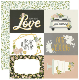 """Simple Stories - Happily Ever After 4x6 Elements Double Sided 12x12"""""""