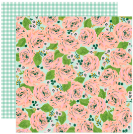 Simple Stories - Bunnies & Blooms In Full Bloom Double Sided 12""