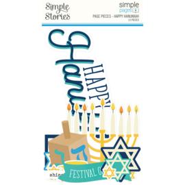 Simple Stories - Happy Hanukkah page pieces