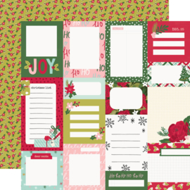 """Simple Stories - Holly Days Journal Elements Double Sided 12x12"""""""