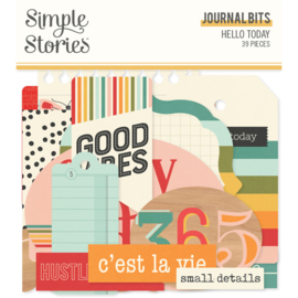 Simple Stories - Hello Today journal bits