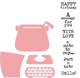Marianne Design - Eline's typewriter