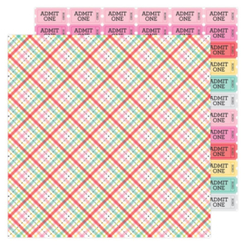 Doodlebug Love Notes Forever Plaid Double Sided 12x12