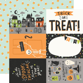 """Simple Stories - Spooky Nights 4x6 Elements Double Sided 12x12"""""""