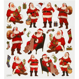 Kerstman stickers