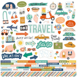 Simple Stories - Save Travels stickervel 12x12