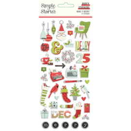 Simple Stories - Make It Merry  puffy stickers