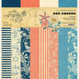 Graphic 45 - Sun Kissed 12x12 Patterns & Solids